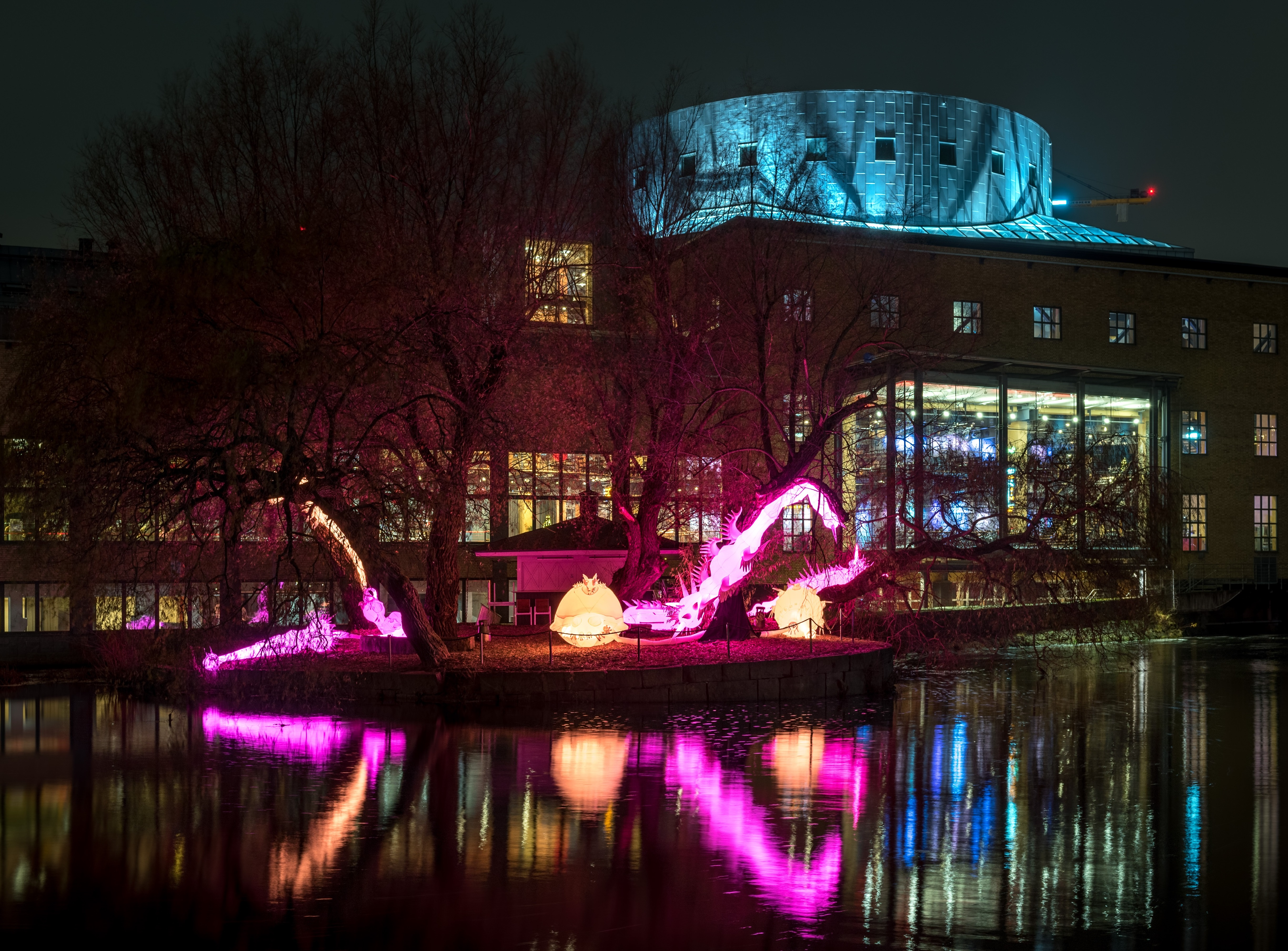 Rotifers, a typical light artwork by Nicole Anona Banowetz at Amsterdam Light festival