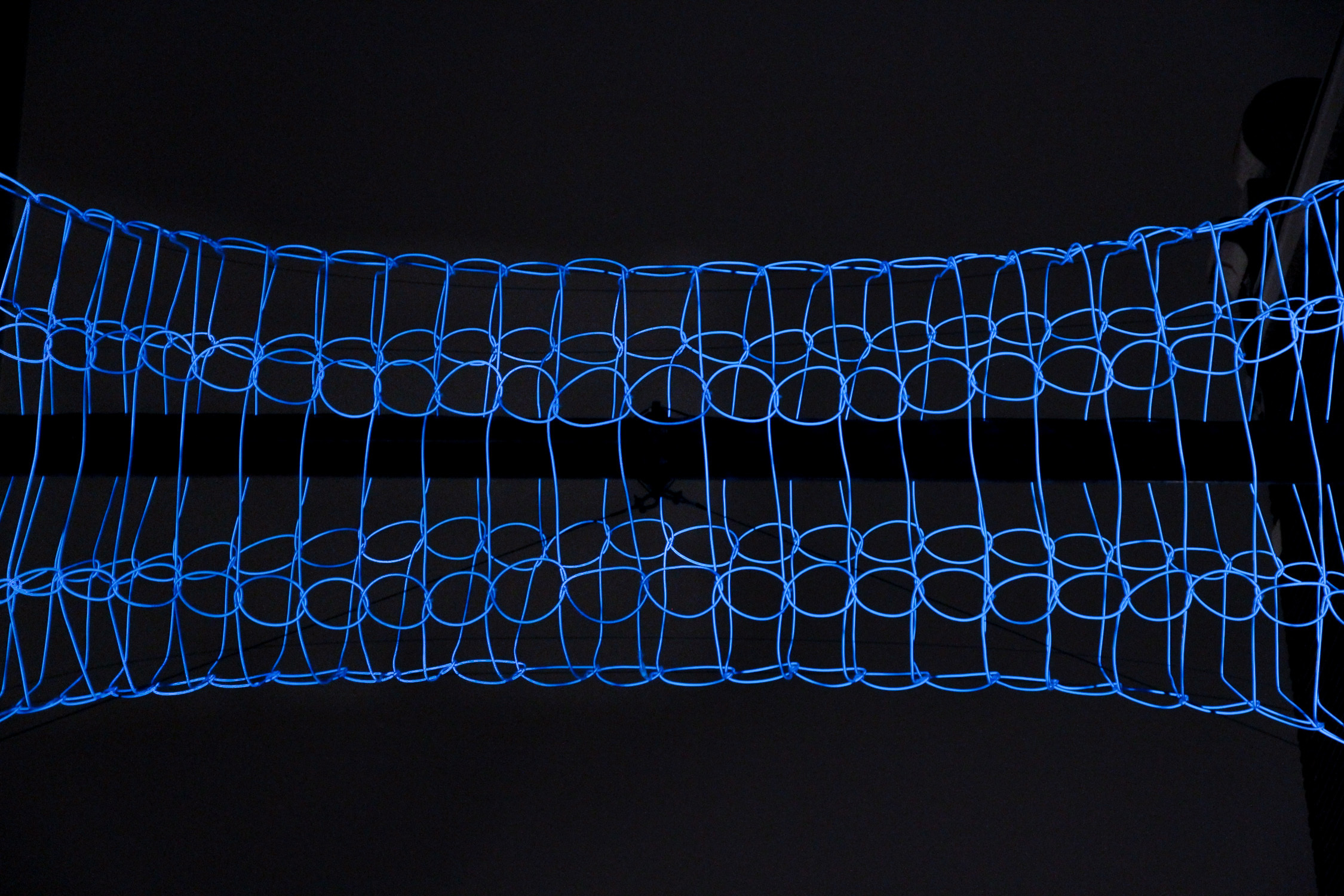 Weft by Meagen Streader is a vortex of electricity and light